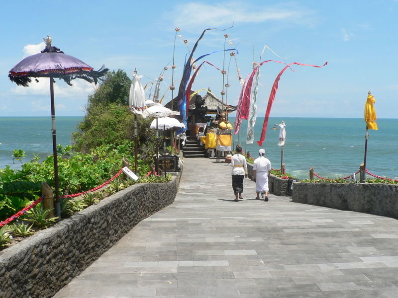 Sea Day Sky Outdoors Large Group Of People People Culture Traditional Tanah LotBali, Indonesia Adult Horizon Horizon Over Water