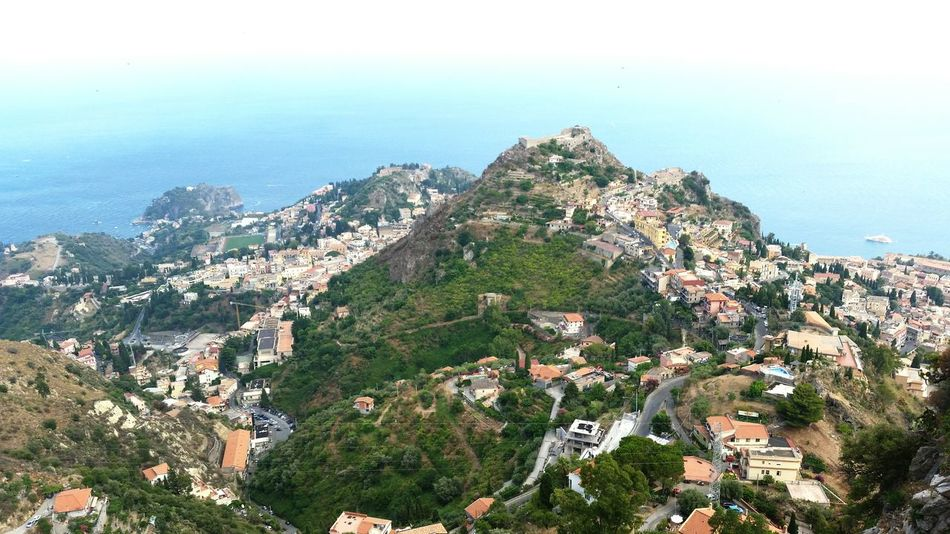 Landscape Island Holiday Airphoto Mountains Sizilia