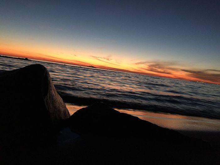The end of the day Enjoying Life Sea Beach Lifeisabeach Beachphotography Summertime Sunset Enjoying The Sunset Sun Summer