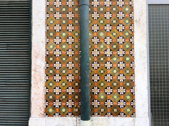 Building Exterior Built Structure Outdoors Close-up Tiles Portuguesetiles Pattern Colors Geometric Shape