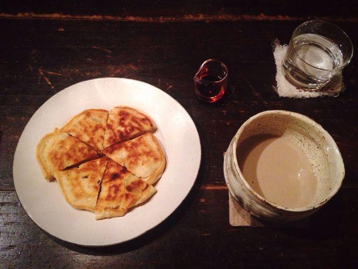 Chai Latte Relaxing Cafe Pancakes 喫茶 バナナとレーズンのパンケーキ、ほうじ茶ラテ Enjoying A Meal