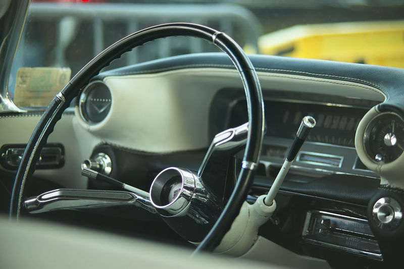 Car Car Interior Close-up Control Panel Dashboard Day Focus On Foreground Glass - Material Indoors  Land Vehicle Metal Mode Of Transportation Motor Vehicle No People Retro Styled Steering Wheel Transportation Vehicle Interior Vintage Car