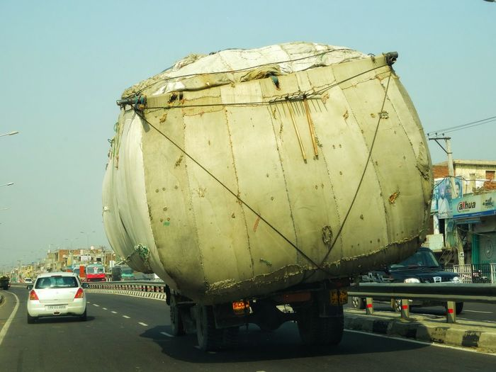 Road Safety Fully Loaded Truck Truckerslife India Danger On The Track Danger On The Road