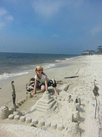 My Daughter ♥ Dauphin Island Beach Fun Building Sandcastles Memories ❤ Alabama Gulf Coast Fun In The Sun Family