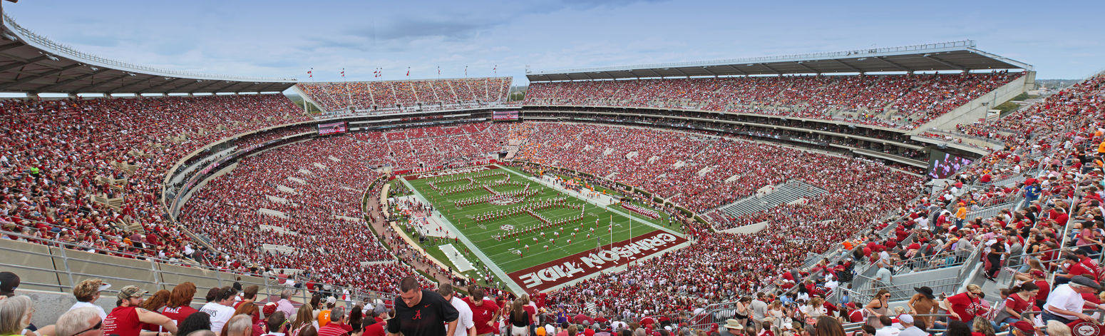 Alabama Bama Built Structure Crowded Football Marching Band Million Dollar Band NCAA Stadium Watching The Color Of Sport