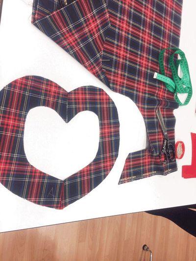 University Fashion Design WOW Red Print Fabric Enjoy