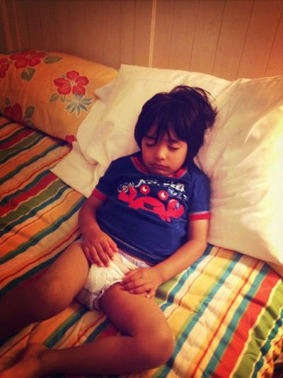 When You Catch Your Baby Brother Sleeping <3