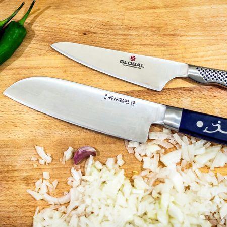 Preparation Global Ioshen Knives