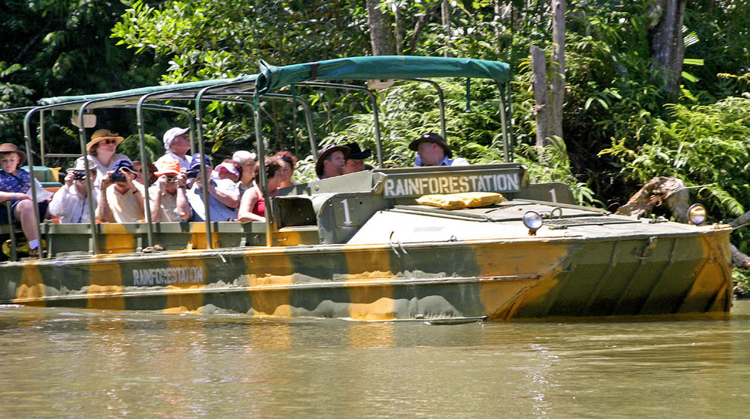 Rain Forest amphibious craft - Cairns, Australia Women Waterfront Water Tree Transportation Sitting River Real People Rain Forest People Outdoors Nautical Vessel Nature Men Leisure Activity Large Group Of People Day Adult Cairns, North Queensland, Australia Amphibious Vehicle Mobility In Mega Cities Adventures In The City