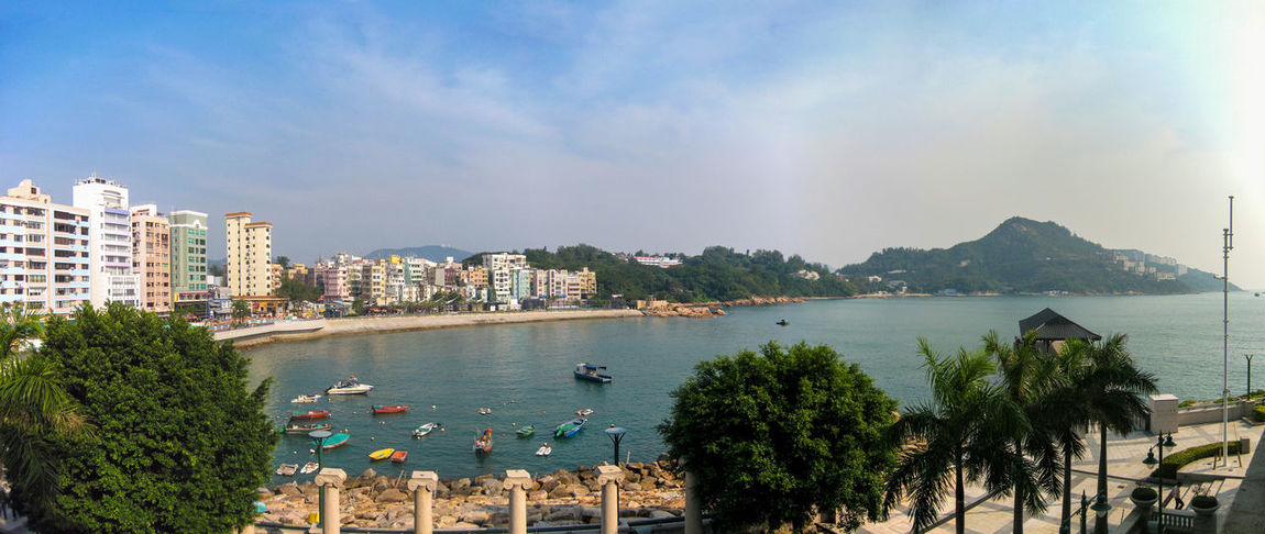 Stanley beach - Hong Kong Panorama Hong Kong Stanley Architecture Bay Beach Building Building Exterior Built Structure City Cityscape Cloud - Sky Day Luxury Nature Nautical Vessel No People Outdoors Plant Residential District Resort Sea Sky Transportation Tree Water