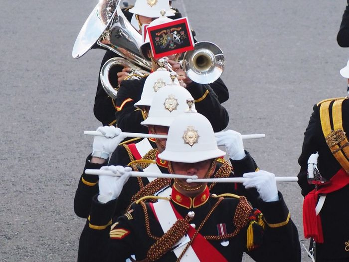 Marine Drum Drummer Edinburgh, Scotland Tattoo Parade Uniform Military Uniform