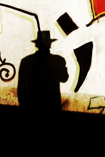 Day Focus On Shadow Graffiti Leisure Activity Samsung NV7 Shadow Unrecognizable Person Up Close Street Photography