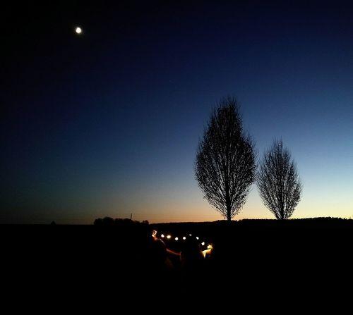 Night Nature Tree Photography Friendship Fun! Outdoors Lights Love Life Sky Moon Light Winter Germany Sunset
