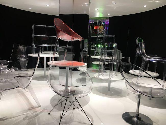 Funiture Color Dark Light Transparent D Museum Plastic Indoors  Chair No People Illuminated Laboratory Day