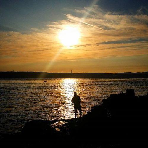 The sunset on