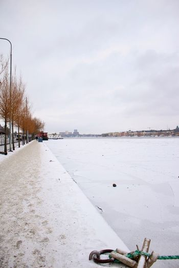 Cityscape EyeEm Gallery Ice TOWNSCAPE Bare Tree Beauty In Nature City Of Stockholm Cold Temperature Cold Winter Day Day Nature No People Outdoors Scenics Sky Snow Tranquility Tree Water_collection Weather Winter Winterseasons