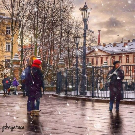Stand Out From The Crowd Streetphotography Street People Fun Live Music Russia Snow