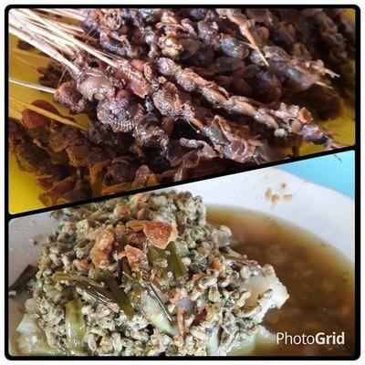 Kupang Lontong + Sate Kerang Kupanglontong Kupang Satekerang Pasarlarangan sidoarjo PhotoGrid eat eatlover food foodporn kuliner culinary
