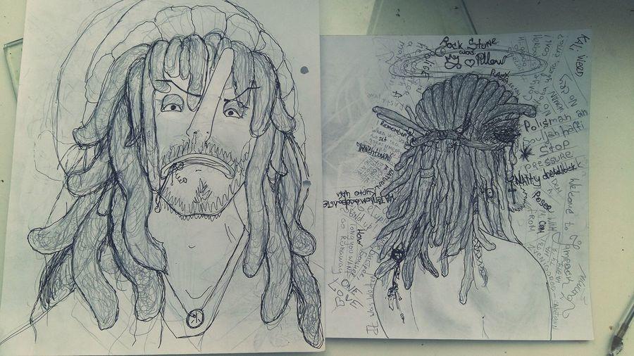 dreadlocks Gel Pen First Eyeem Photodreadlocks RASTA Dreadlocks Natty Usopp Drawing Sketch Character Graphic Pencil