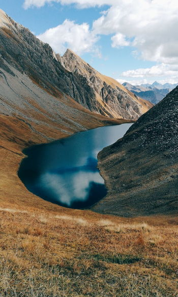 Alpine Lake - Lake Licony Mountain Lake Landscape Water Scenics Nature Mountain Range Cloud - Sky Outdoors Travel Destinations No People Beauty In Nature Sky Day The Week On EyeEm Lost In The Landscape Hiker Lakeshore Hiking Natural Landmark Backpack
