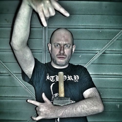 Bathory Bandshirt Bandshirts Bandshirtoftheday bandshirtaday bandshirtcollection bandshirtsforlife bandshirtsrock horns devilhorns bald hammer thorshammer thorshammered thorshammercunt