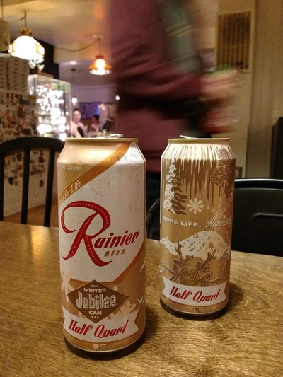 late night Vitamin R Rainier Drink Text Close-up Food And Drink Beer Alcoholic Drink