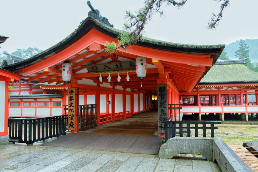 Japan Hiroshima Itsukushima Shrine Japanese Culture Traditional Shrine