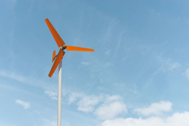 Blue Cloud - Sky Day Industrial Windmill Low Angle View Nature No People Outdoors Sky Wind Power Wind Turbine Windmill