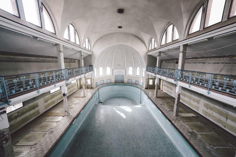 Interior of empty tunnel