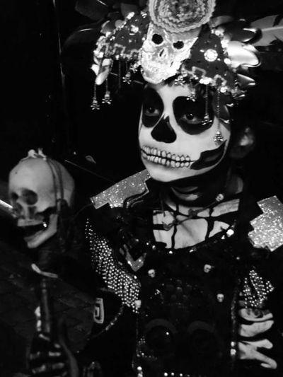 People Close-up Dia De Los MuertosMexico De Mis Amores Calaverasdemexico Calavera  Day Of The Dead Black & White