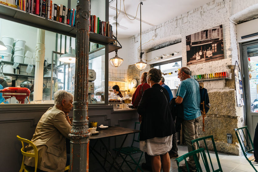 People in old fashioned bakery coffee shop in Madrid Barrio City City Centre Cityscape European  Madrid Retro SPAIN Travel Bakery Bakery Cafe Barrio De Las Letras Cafe Capital Cities  Coffe Shop Europe Food And Drink Group Of People Hipstar  Indoors  Pastry Tourism Urban Vintage