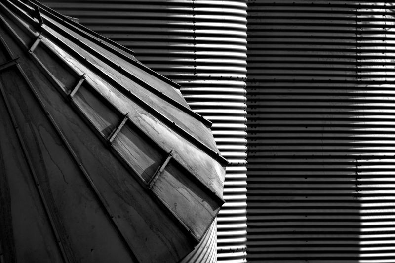 Pattern No People Architecture Wood - Material Built Structure Day Indoors  Window Low Angle View Close-up Repetition In A Row Sunlight Building Textured  Metal Wall - Building Feature Backgrounds Iron Corrugated