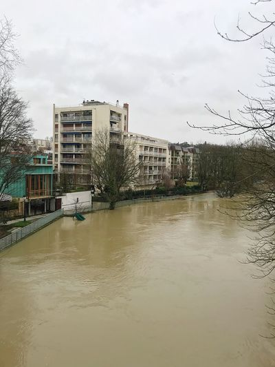 Inondation Champigny sur marne le 25 01 2018 Architecture Building Exterior Built Structure Tree Sky No People Water