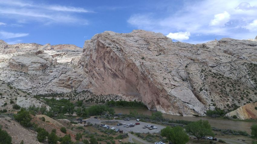 Utah National Monument Striations Clouds And Sky Mountain Scenics Physical Geography Rock - Object Beauty In Nature Mountain Range No People