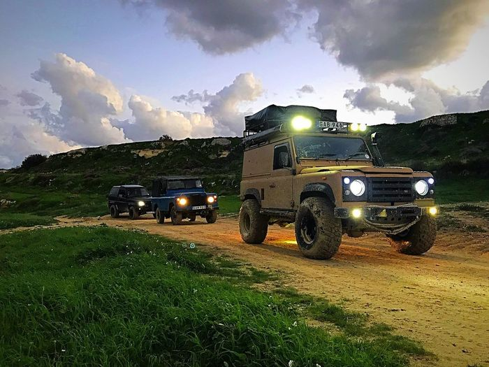 LAND ROVER SERIES 2 Land Rover Defender Sun Mud 4x4 Country 4x4 Trucks 4x4 Off-road Team 4x4life 4x4 Travel 4x4 Land Vehicle Field Agriculture Transportation Cloud - Sky No People EyeEmNewHere Day Sky Outdoors