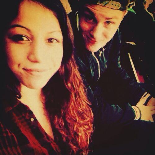 Watching Icehockey With My Bestfriend.:)