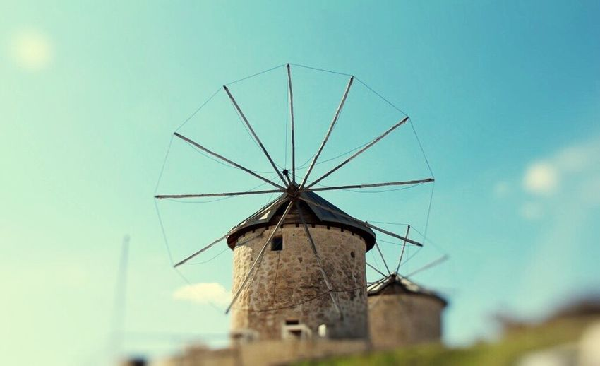 Windmill Environmental Conservation Wind Power Architecture Built Structure Wind Turbine Renewable Energy Alaçatı Low Angle View Building Exterior Alternative Energy No People Sky Field Nature Outdoors Day