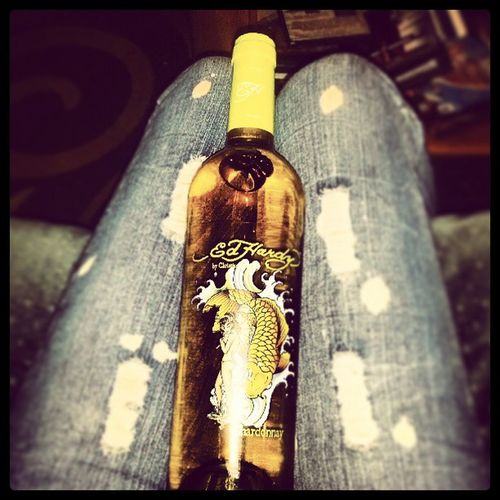 Ed hardy Chardonnay Thanksjay Fromslim TurnUps 15percent