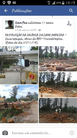 Brazilian government making roads across forest to olimpic games in Rio 2016 Check This Out Hello World Walking Around Intheforest Construction Urban Ambient Crimes Riodejaneiro Brasil