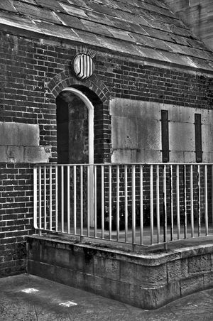 Another doorway near the round tower in B&W. B&w Doorway Round Tower HDR HDR Collection Hdr_Collection Portsmouth Harbour Portsmouth