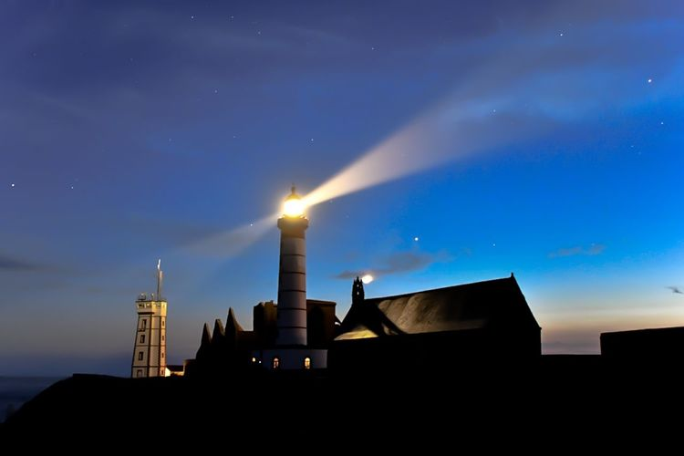 Nikon Phare Light Nuit St Mathieu Lighthouse Saint-Mathieu Nikon Nikonphotography Nikon D850 Brittany Bretagne Building Exterior Architecture Built Structure Sky Night Building Star - Space Outdoors Lighthouse Silhouette No People Illuminated