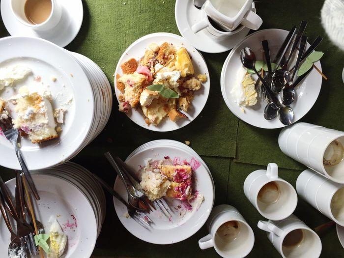 Food Plates Dishes Leftovers Wedding Showcase July Cake Eating