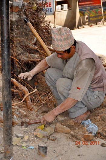 Person Mature Adult Nepal Hard Labor Men