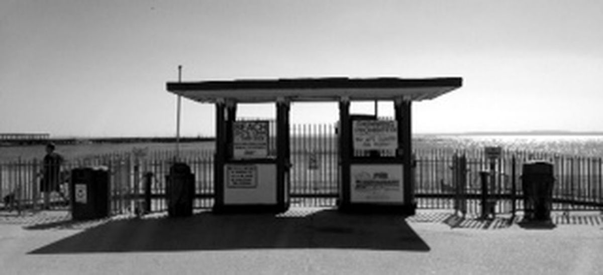 TicketBooth At The Beach Blackandwhite Blackandwhite Photography
