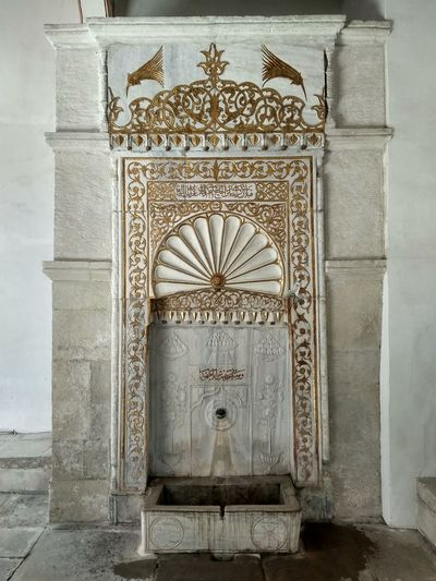 Fountain Antique Pattern History Ornate Door Architecture Close-up Built Structure
