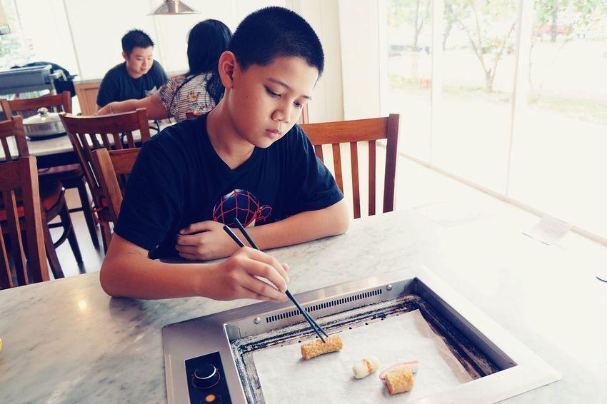 Kid Boy Lunch Time!
