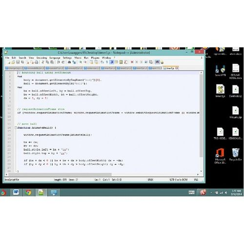 Coding ~_~ Androidgame NotePad ++ Javascript