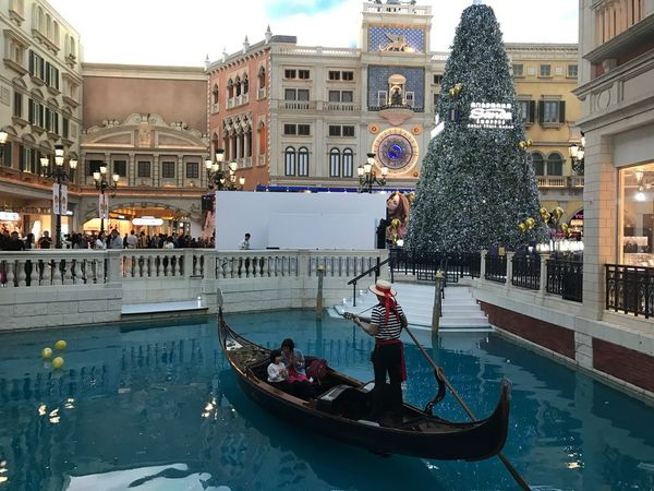 Venetian. Cultures Gondola - Traditional Boat Travel Destinations Travel Building Exterior Architecture Tourism Canal Gondolier Water Built Structure People Women Adult Illuminated Men Vacations Outdoors Nightlife Large Group Of People Venetian Macau Venetian Sand