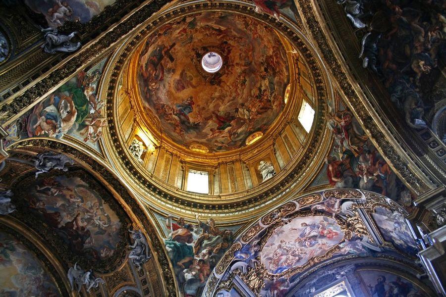 Rome Italy Church Plafond Grandiose