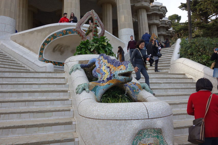 Architecture Barcelona Gaudi Guell Parc Guell SPAIN
